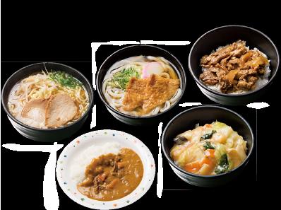 カレーや牛丼、ラーメンなどのホットサービス特別メニューで、毎日のお弁当にアクセントを!