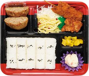 串カツ&ハンバーグ弁当 C