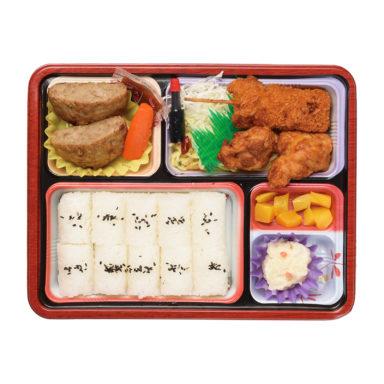 串かつ&ハンバーグ弁当(B)