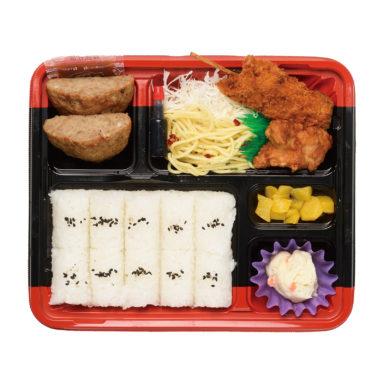 串かつ&ハンバーグ弁当(C)